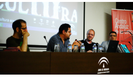 Round table in the Centro Cultural de las Letras