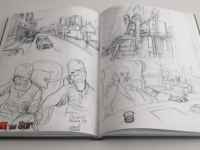 Rough sketches for page 28 of 'Rage from the South'